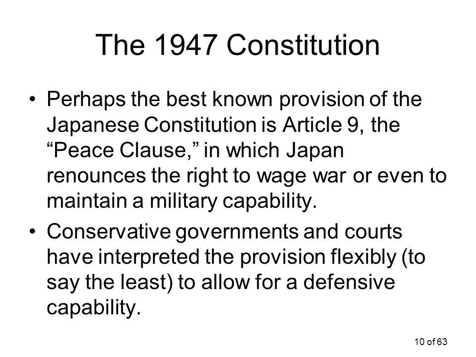 The 1947 Constitution