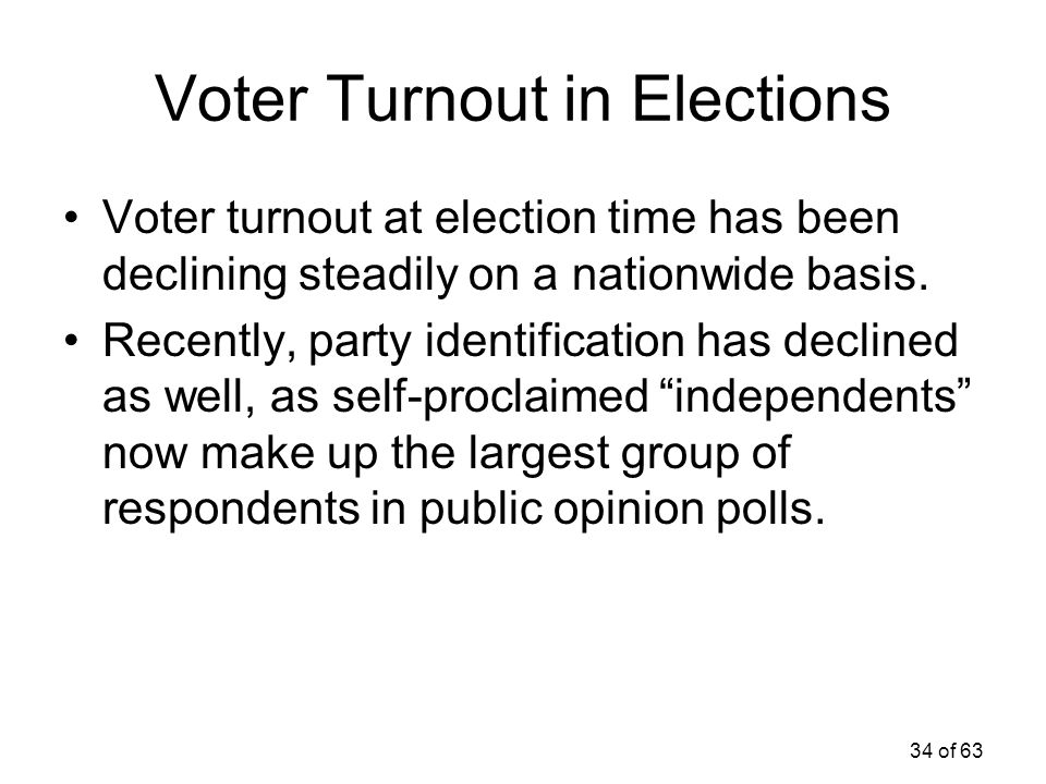 Voter Turnout in Elections