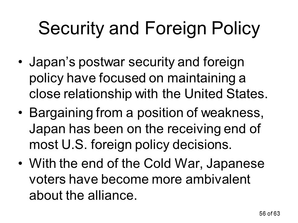 Security and Foreign Policy