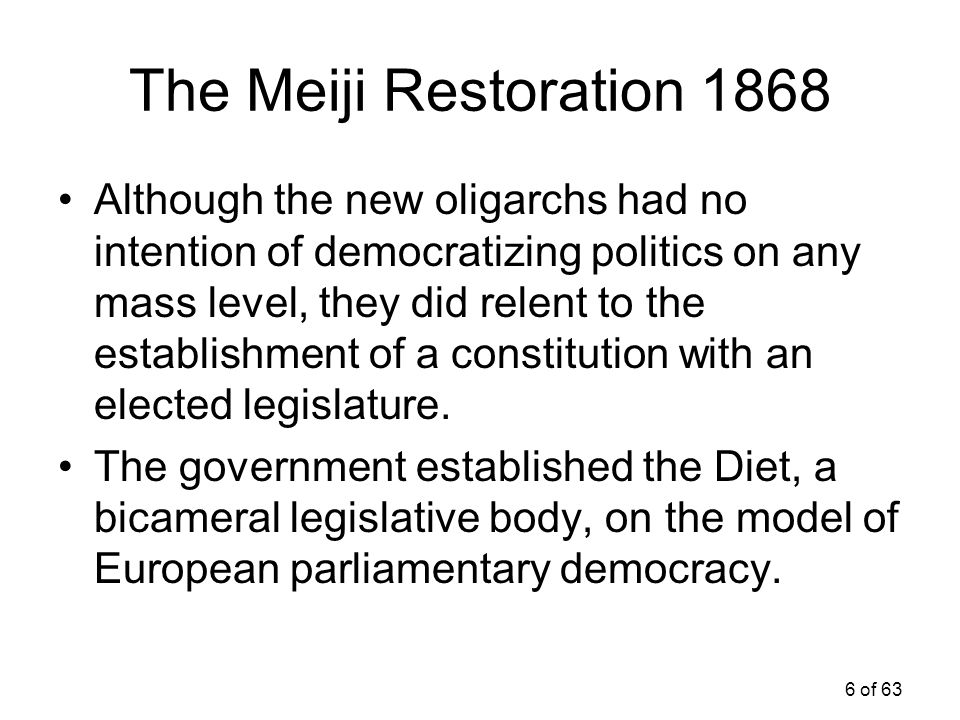 The Meiji Restoration 1868
