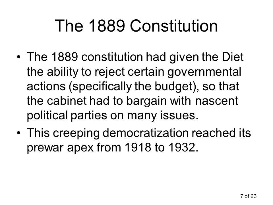The 1889 Constitution