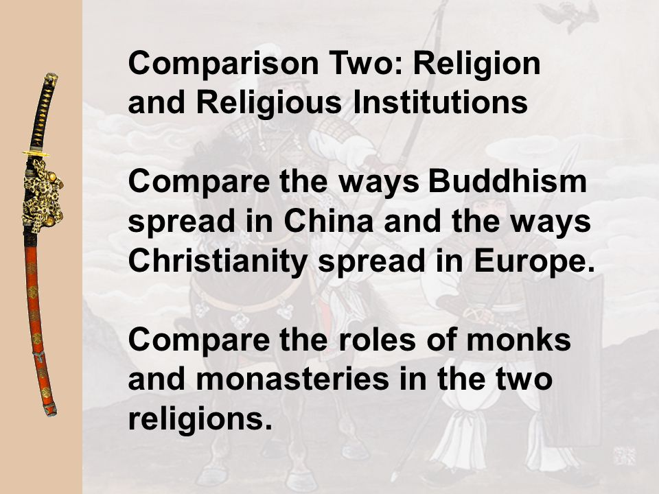 Comparison Two: Religion and Religious Institutions