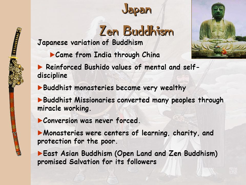 Japan Zen Buddhism Japanese variation of Buddhism