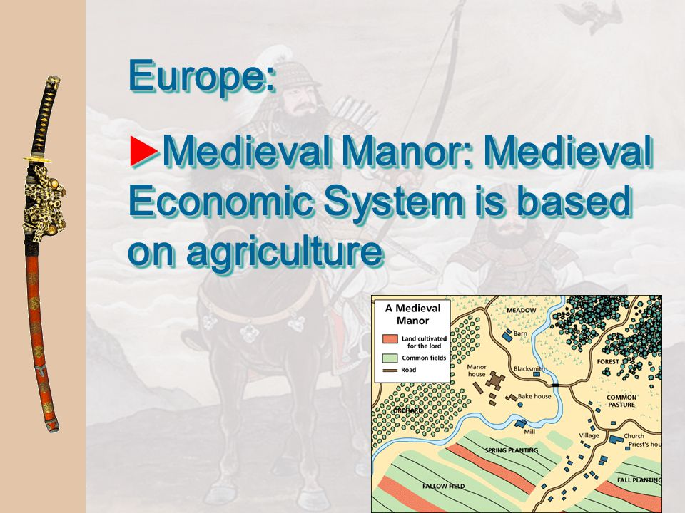 Medieval Manor: Medieval Economic System is based on agriculture