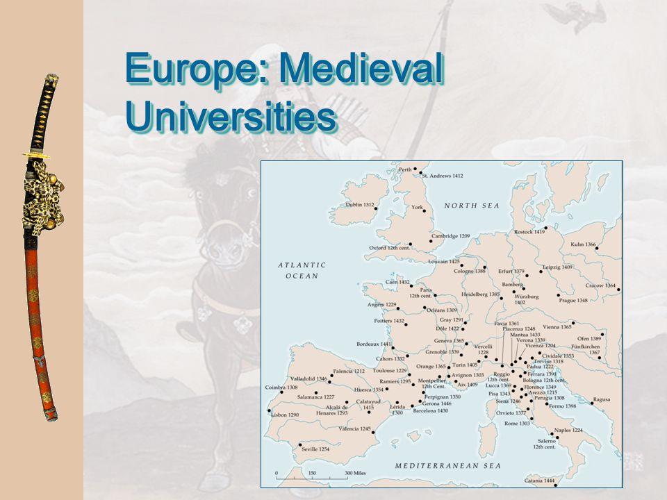 Europe: Medieval Universities