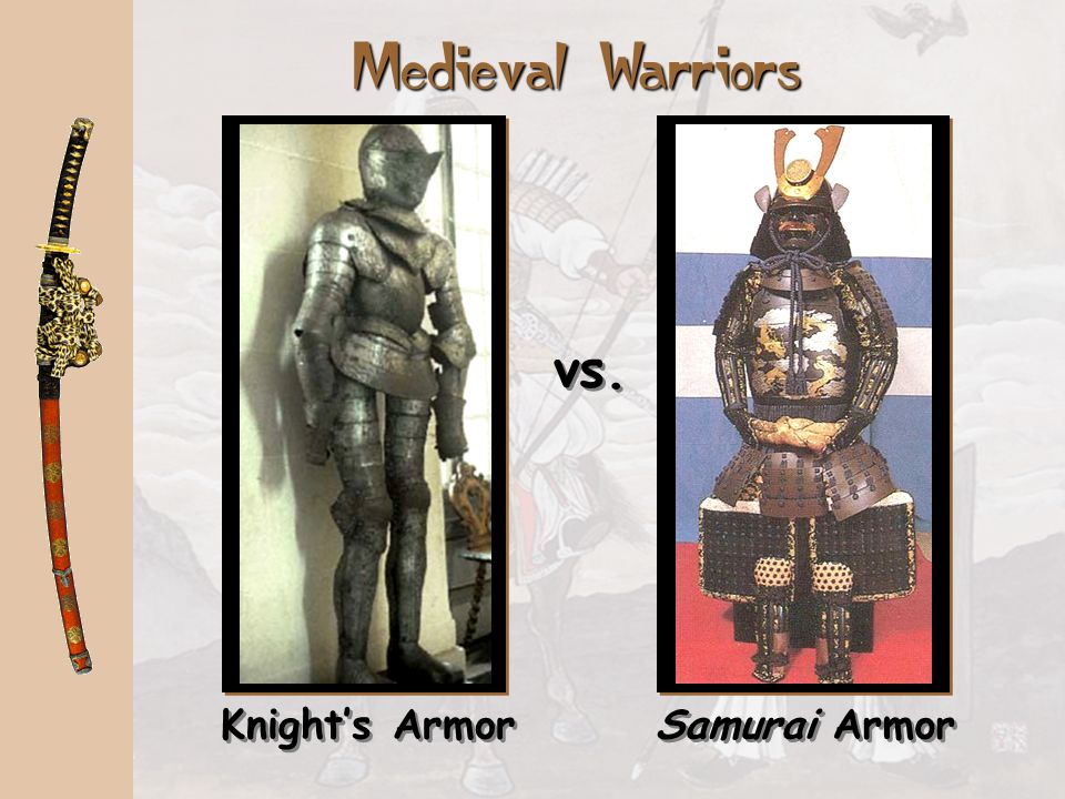 Medieval Warriors vs. Knight's Armor Samurai Armor