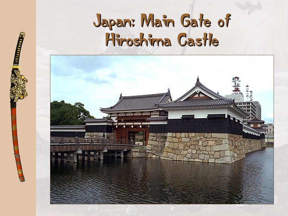 Japan: Main Gate of Hiroshima Castle