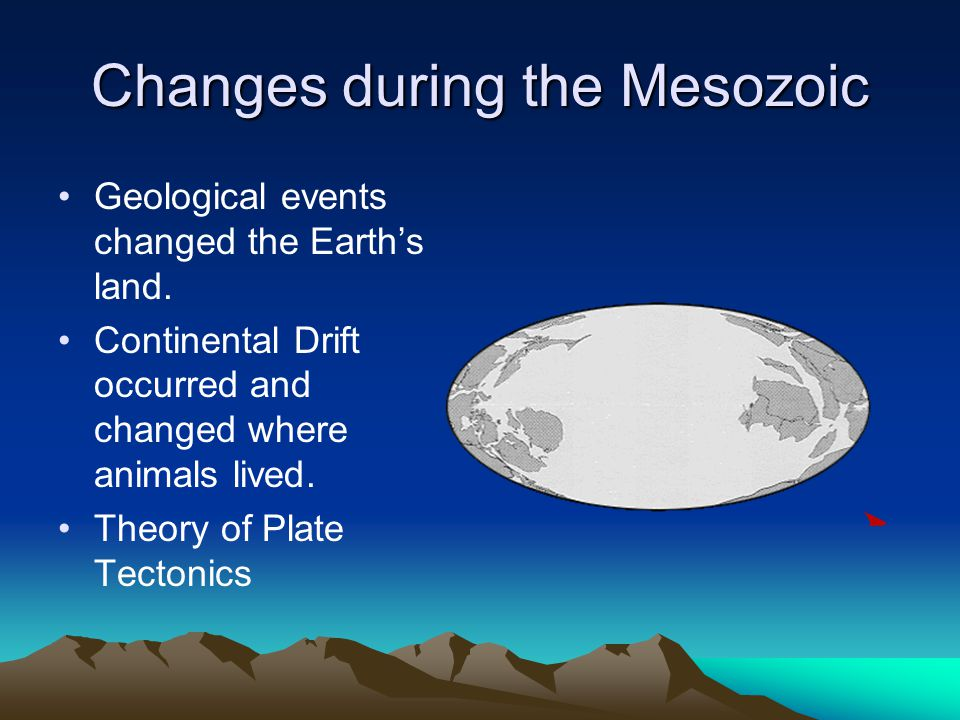Changes during the Mesozoic