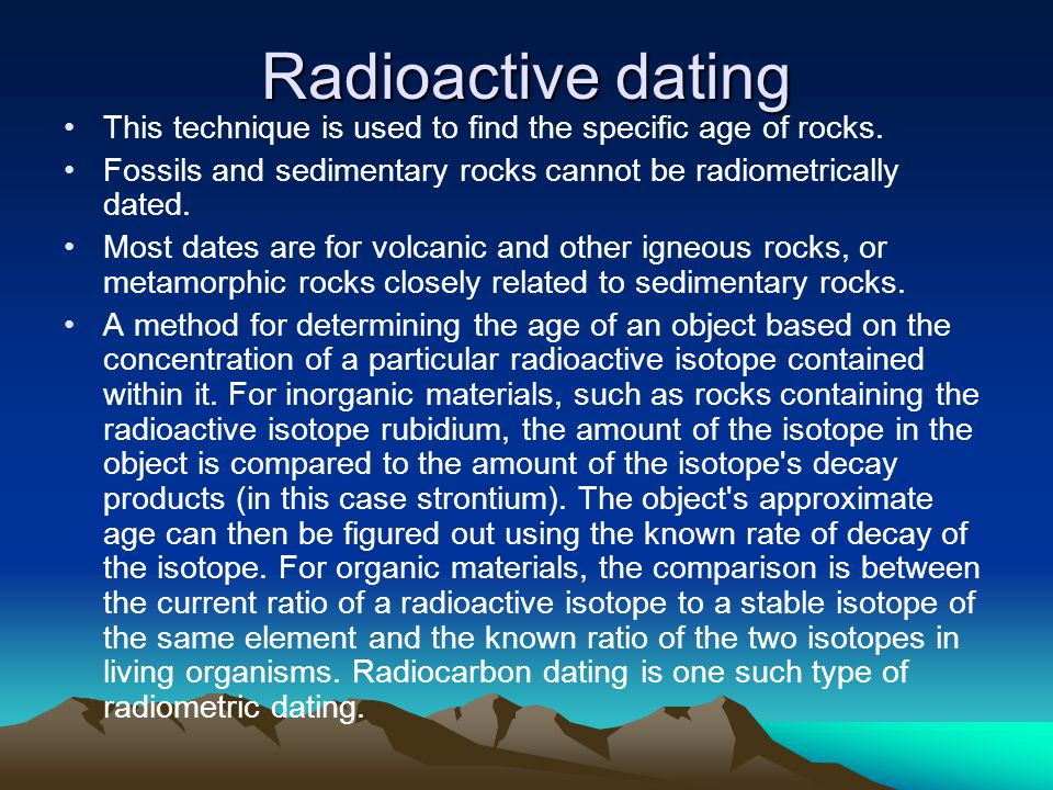 What are the two types of radioactive dating - Naturline