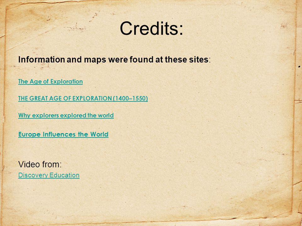 Credits: Information and maps were found at these sites: Video from: