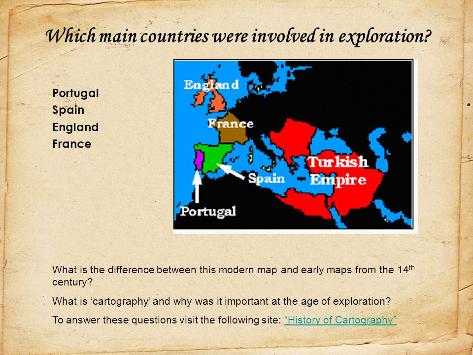 Which main countries were involved in exploration