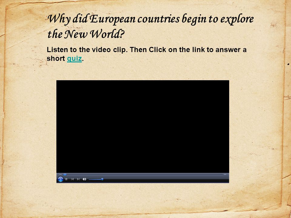 Why did European countries begin to explore the New World