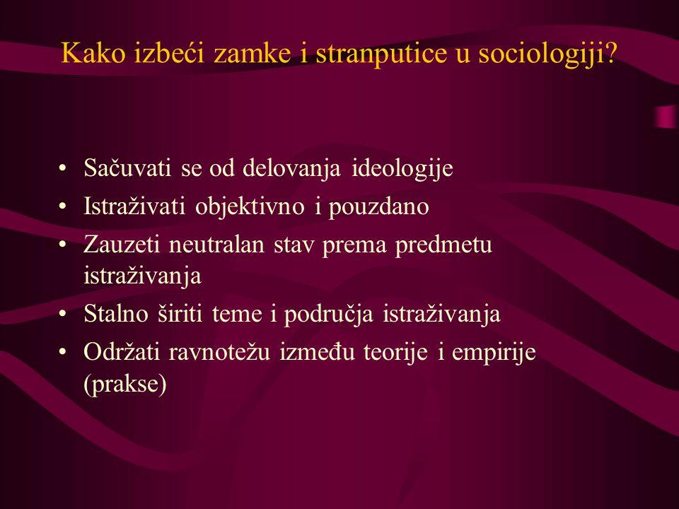 Kako izbeći zamke i stranputice u sociologiji