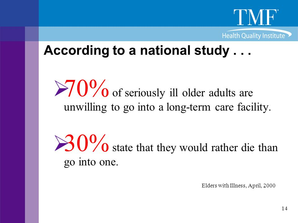 According to a national study . . .
