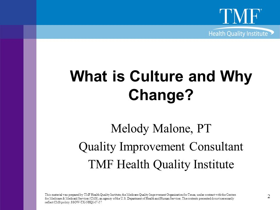 What is Culture and Why Change
