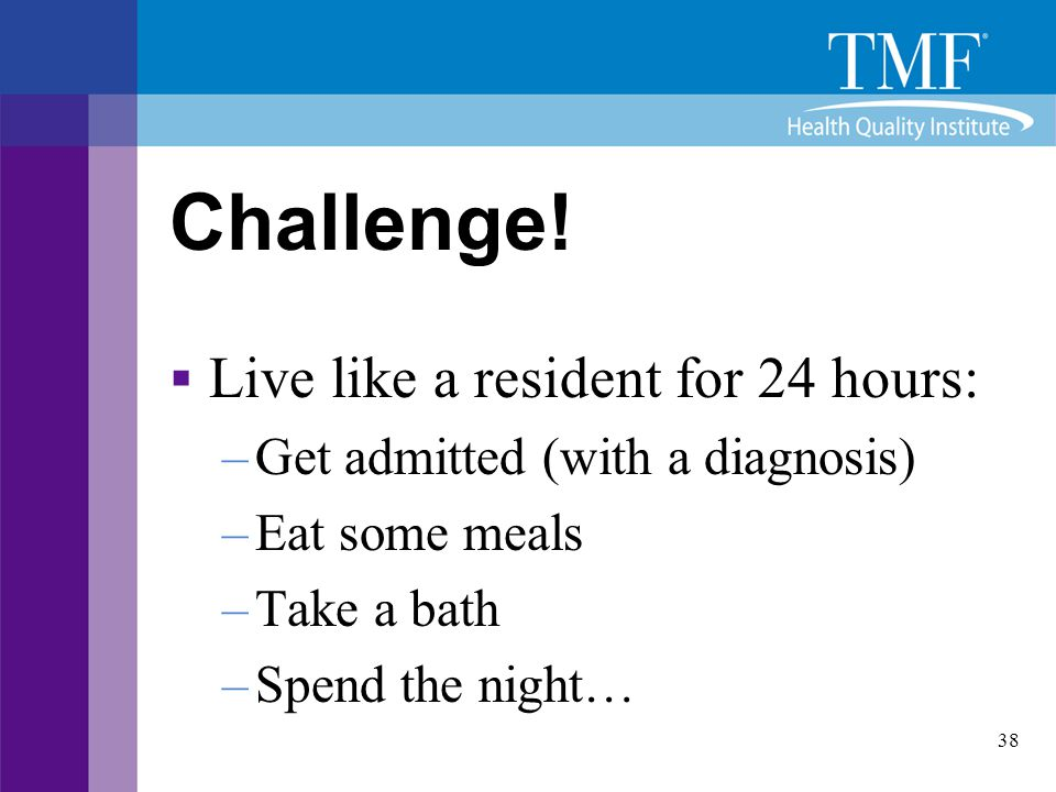 Challenge! Live like a resident for 24 hours: