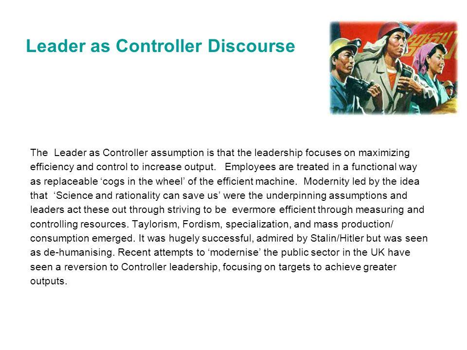 Leader as Controller Discourse