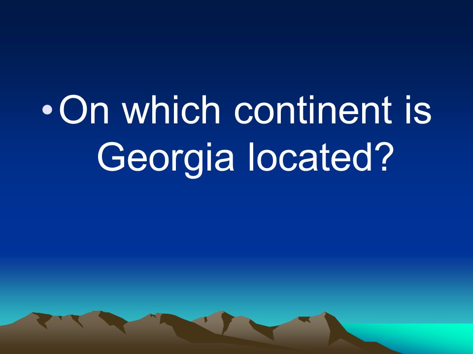 On which continent is Georgia located