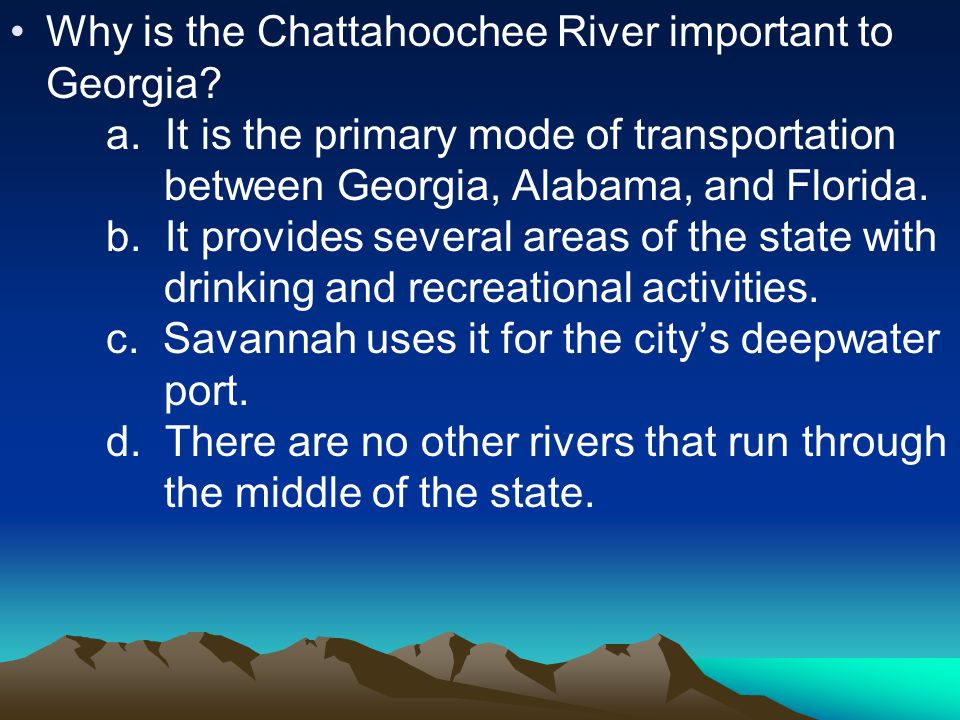 Why is the Chattahoochee River important to Georgia