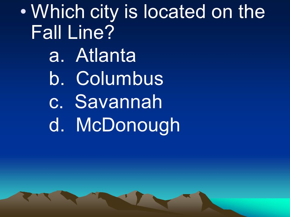 Which city is located on the Fall Line