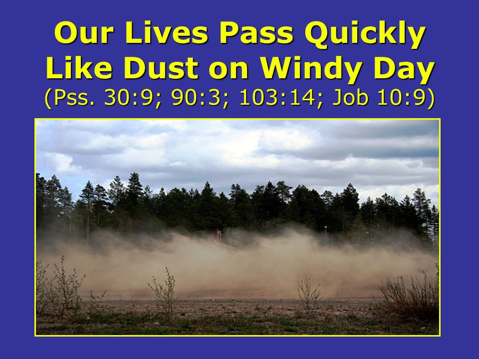 Our Lives Pass Quickly Like Dust on Windy Day (Pss
