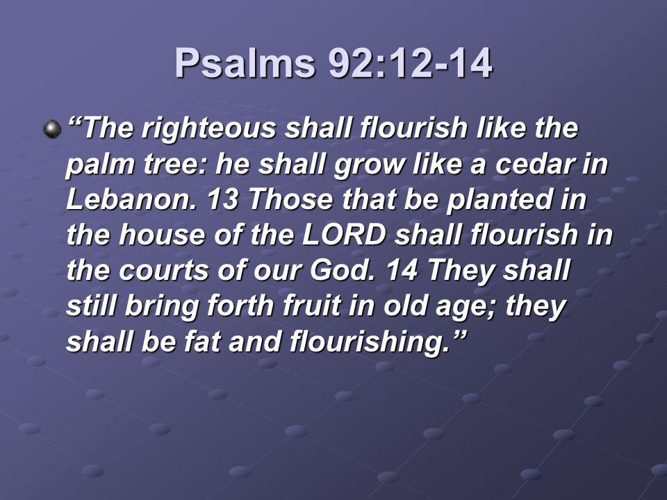 Psalms 92:12-14