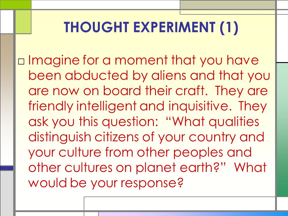 THOUGHT EXPERIMENT (1)