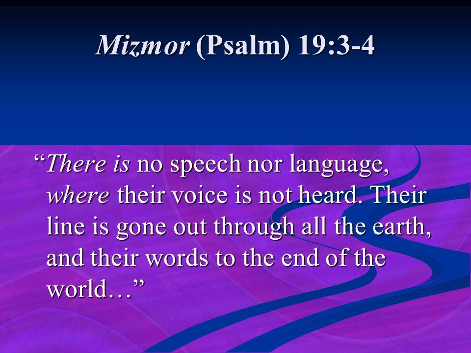 Mizmor (Psalm) 19:3-4