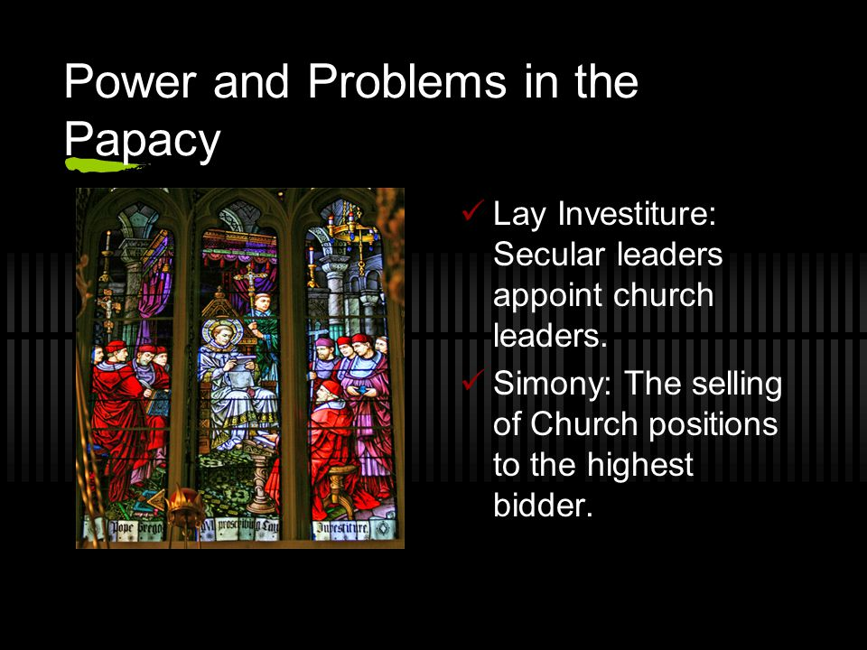 Power and Problems in the Papacy