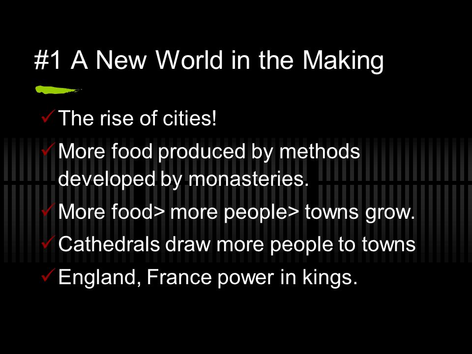#1 A New World in the Making