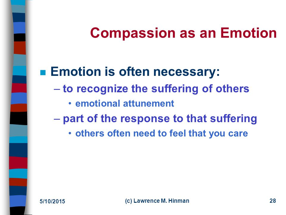 Compassion as an Emotion