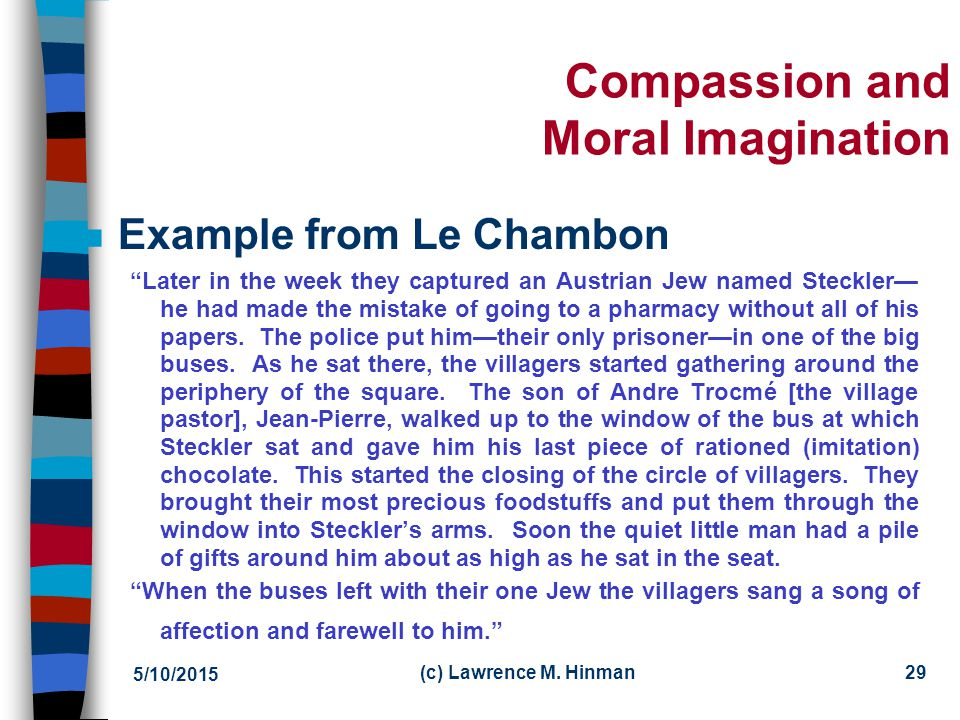 Compassion and Moral Imagination