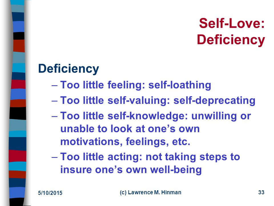 Self-Love: Deficiency