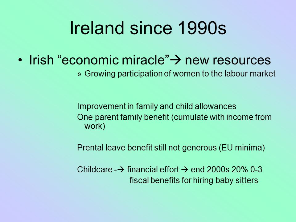 Ireland since 1990s Irish economic miracle  new resources