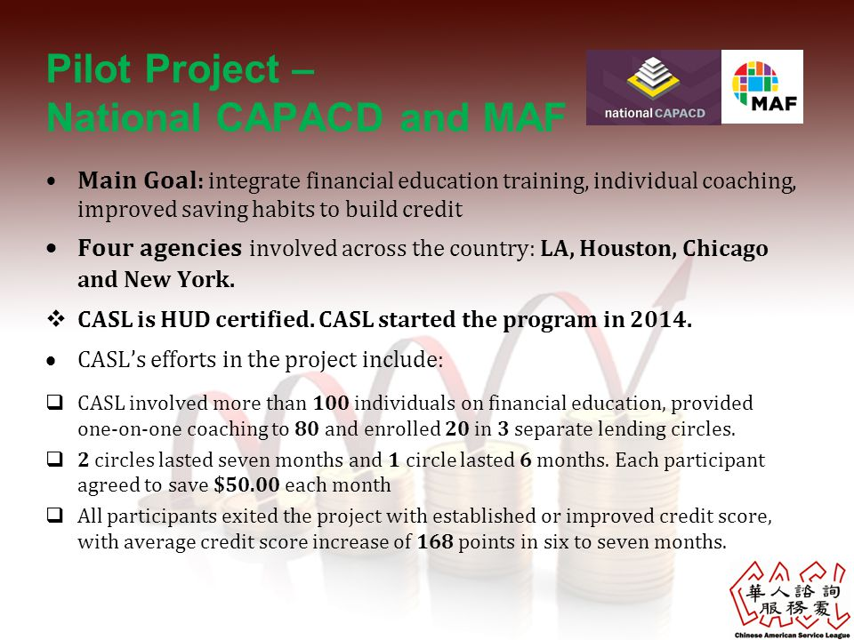 Pilot Project – National CAPACD and MAF