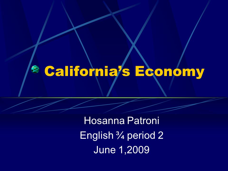 Hosanna Patroni English ¾ period 2 June 1,2009