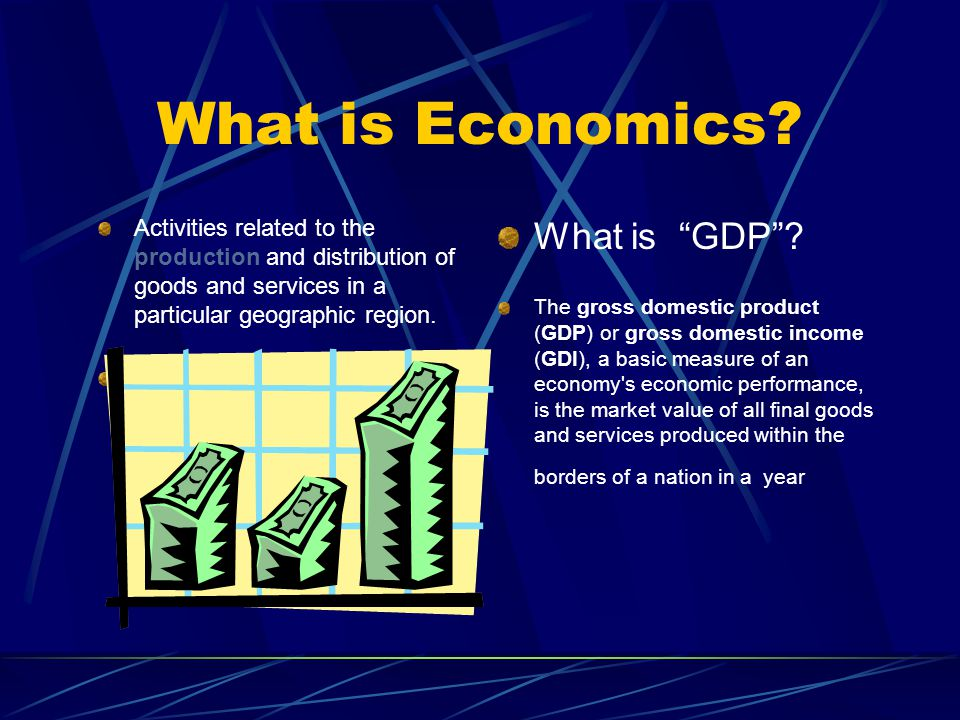 What is Economics What is GDP