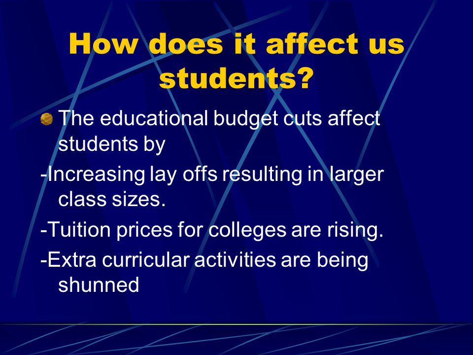 How does it affect us students