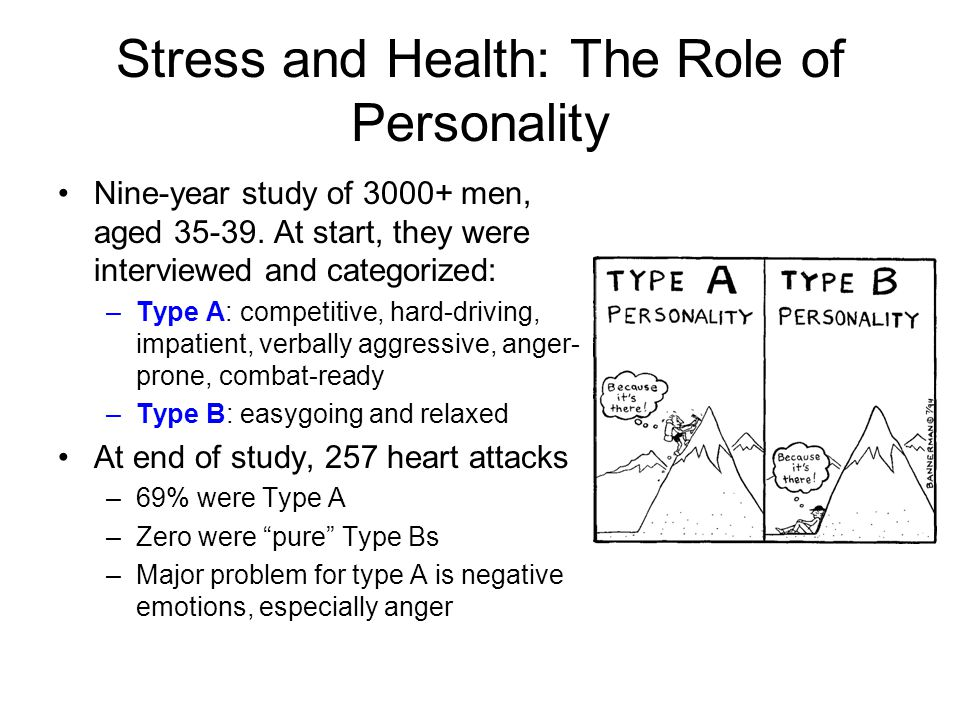 Stress and Health: The Role of Personality