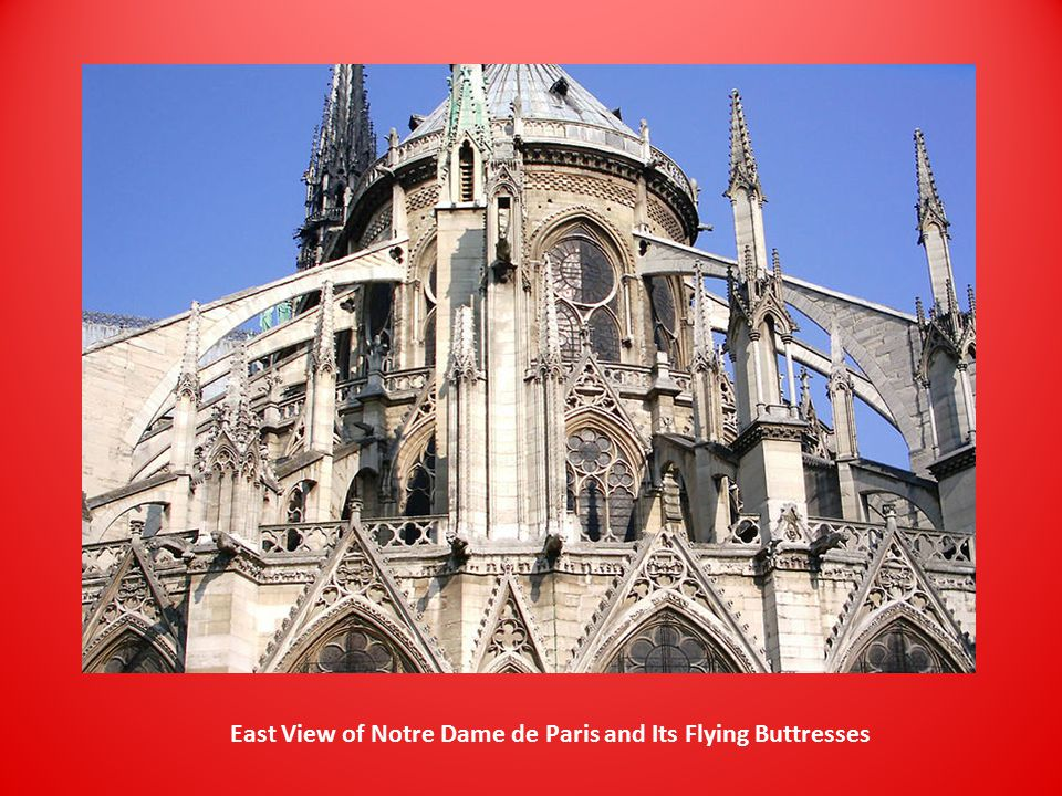 East View of Notre Dame de Paris and Its Flying Buttresses
