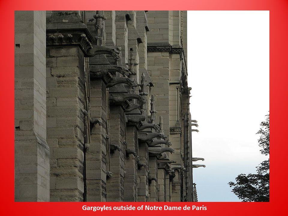 Gargoyles outside of Notre Dame de Paris