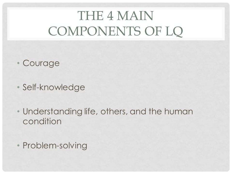 The 4 main Components of LQ