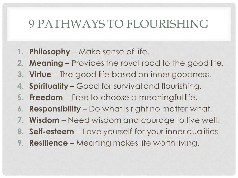 9 Pathways to flourishing