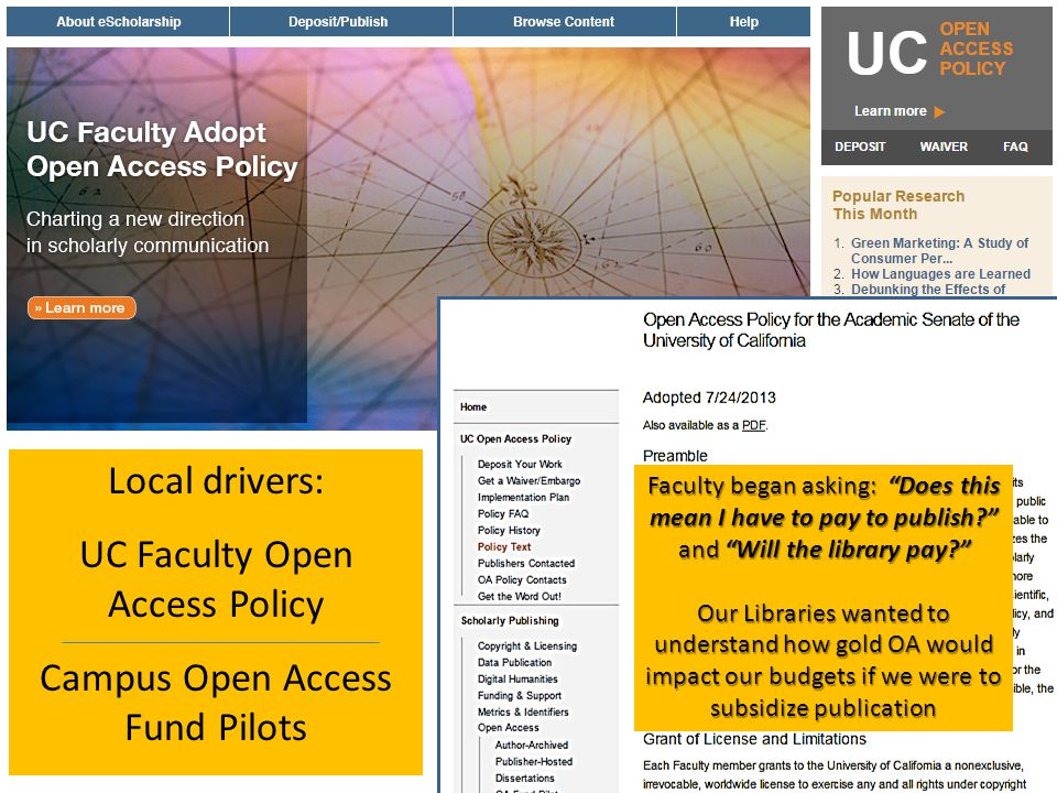 UC Faculty Open Access Policy