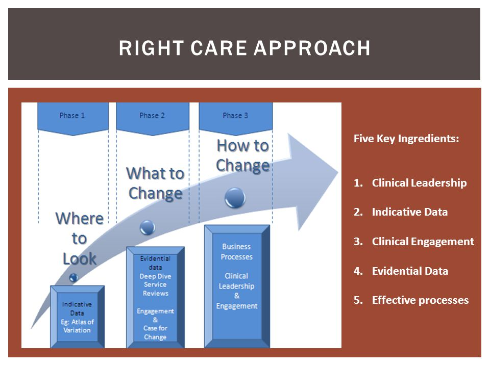 RIGHT Care Approach Five Key Ingredients: Clinical Leadership
