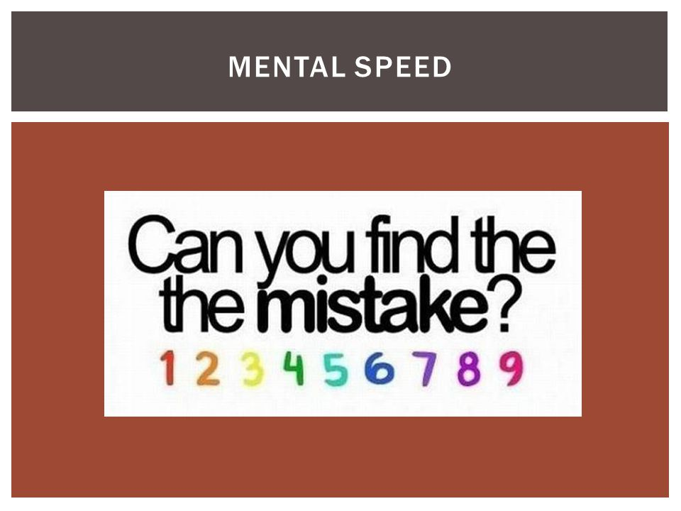 Mental Speed