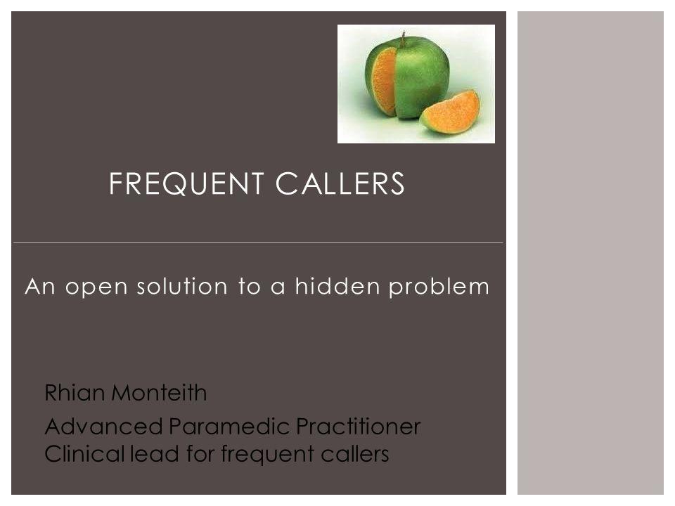 An open solution to a hidden problem