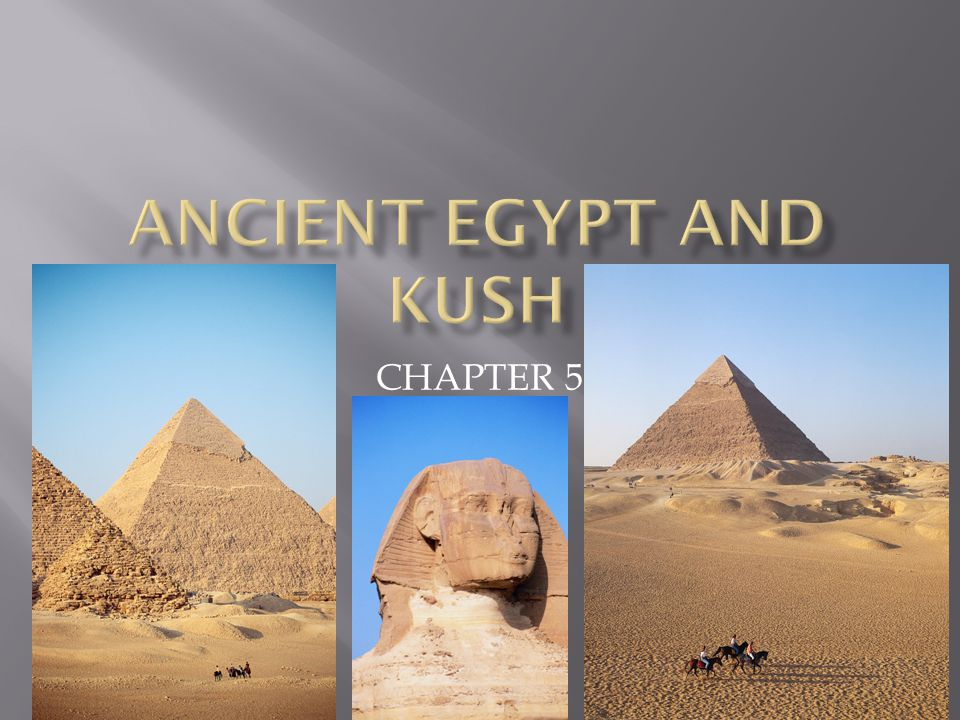 Ancient egypt And kush CHAPTER 5