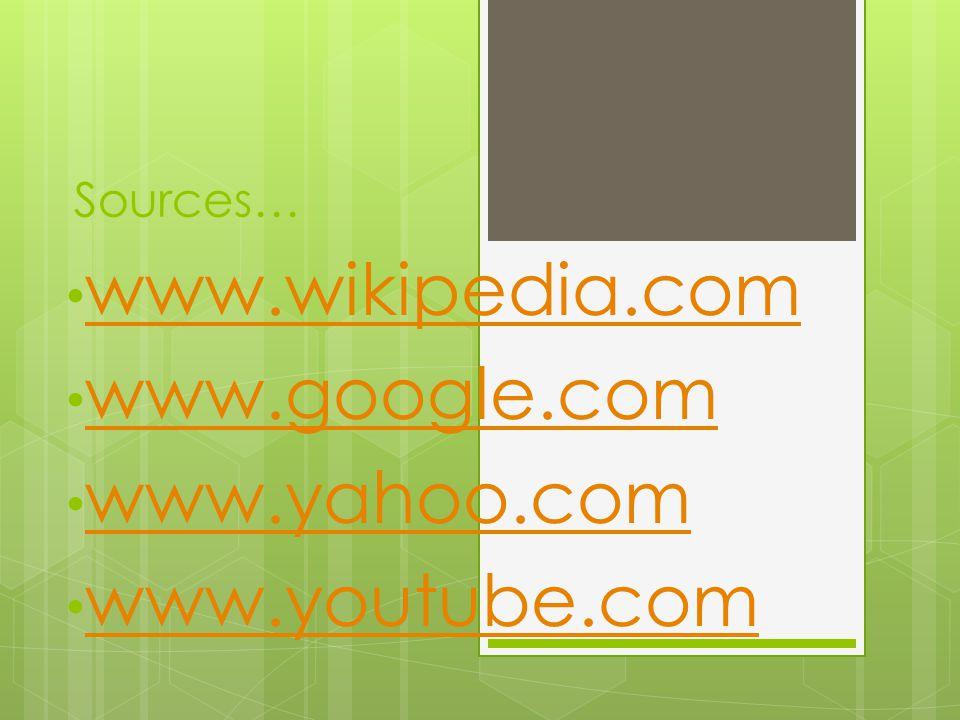 www.wikipedia.com www.google.com www.yahoo.com www.youtube.com