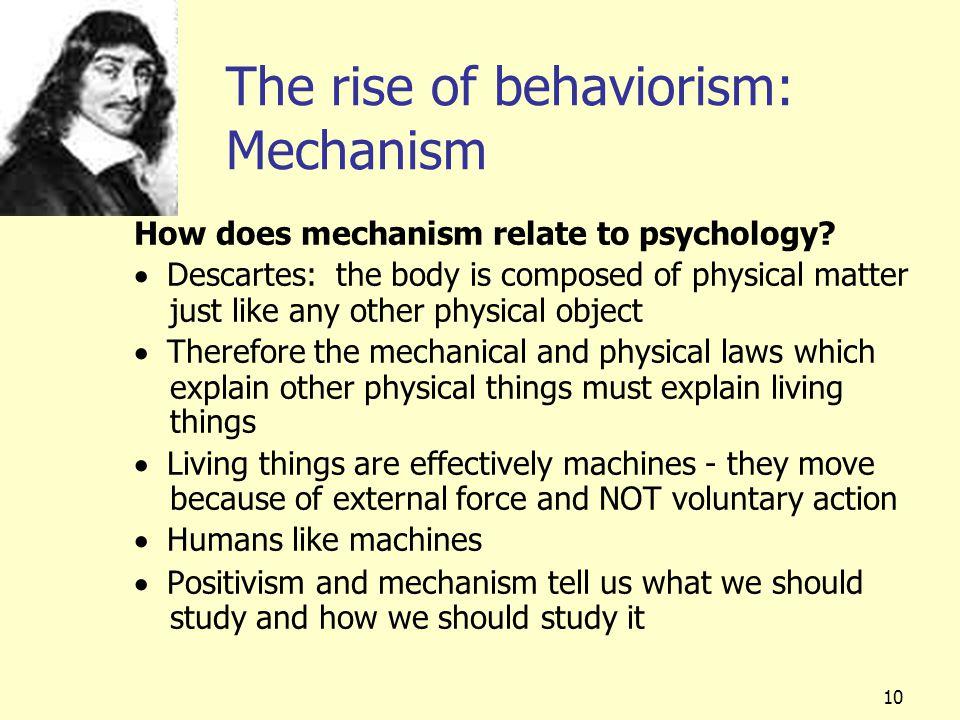 The rise of behaviorism: Mechanism